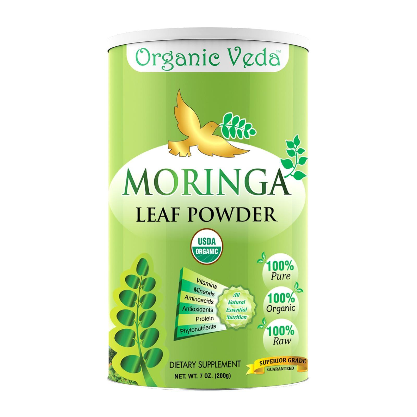 Organic Veda Organic Moringa Leaf Powder 200 Grams