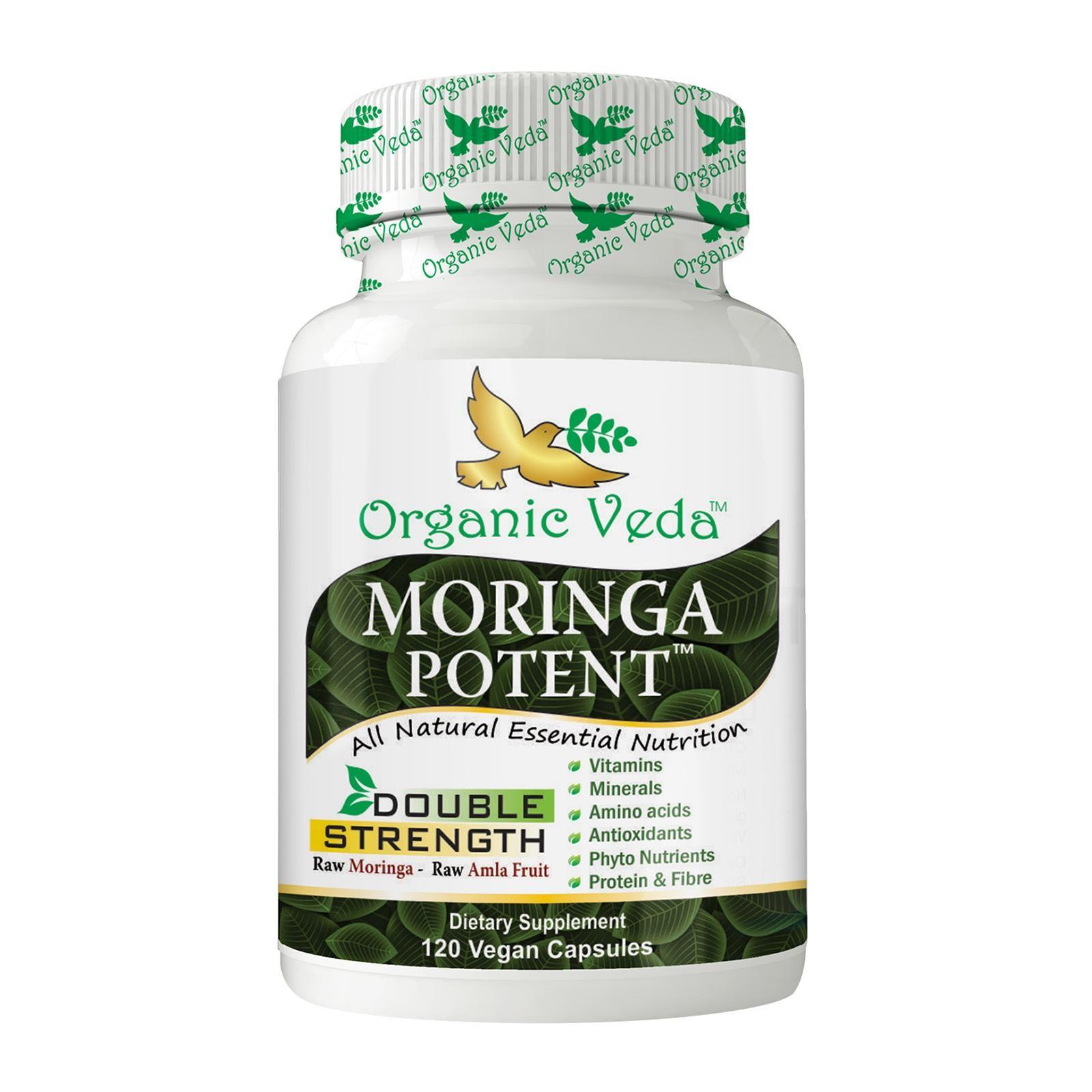 Organic Veda Moringa Potent 120 Veg Capsules