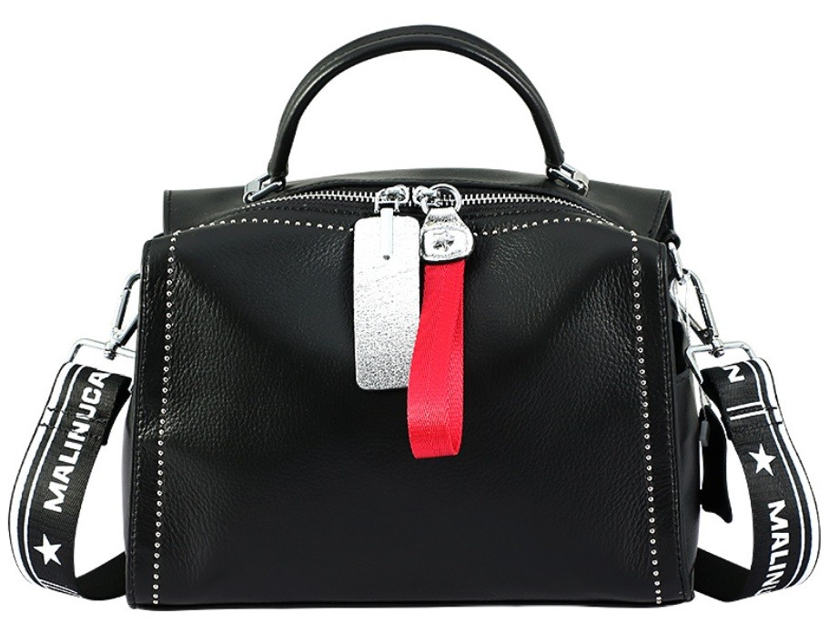Boston Genuine Cowhide Leather Handbag