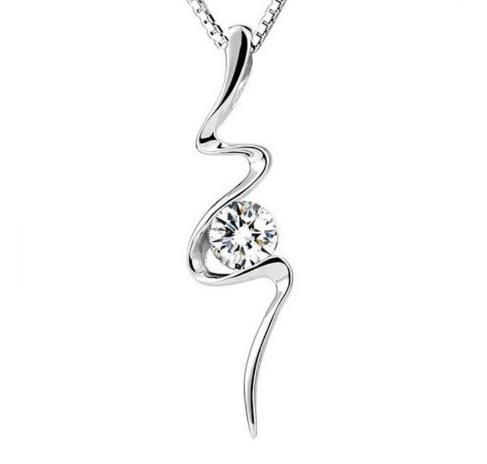 Crystal Zircon Pendant Necklace Jewelry