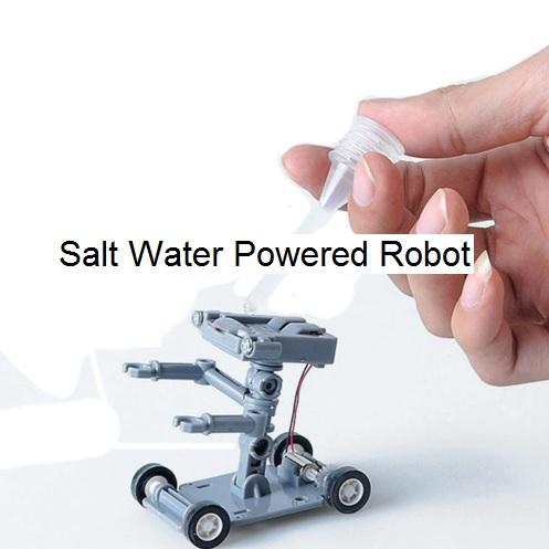 Salt Water Powered Robot Educational Toy