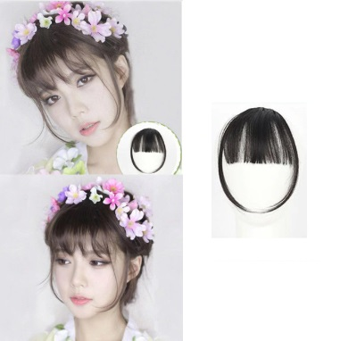 Clip On Korean Style Bangs Hair Extension