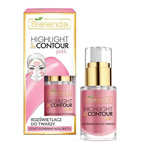 Bielenda Highlight and Contour Pink Highlight Face Cream Improve Colour Effect