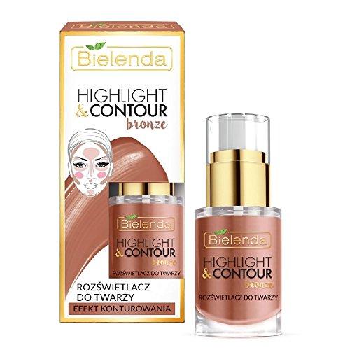 Bielenda Highlight and Contour Bronze Highlight Face Cream Contouring Effect