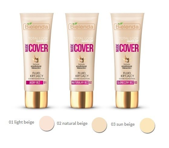 Bielenda TOTAL LOOK MAKE-UP Full coverage fluid foundation NUDE COVER 03