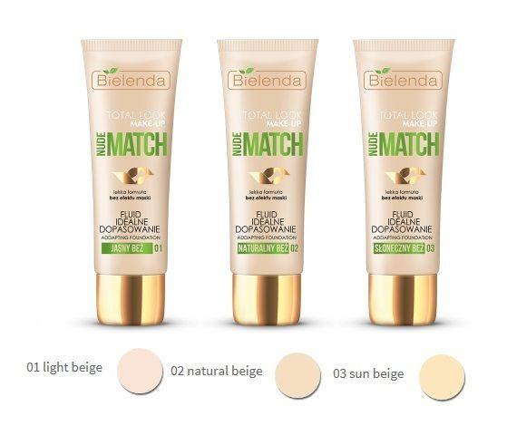 Bielenda TOTAL LOOK MAKE-UP Illuminating fluid foundation NUDE MATCH 03