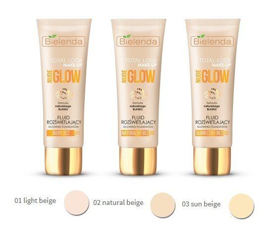 Bielenda TOTAL LOOK MAKE-UP Illuminating fluid foundation NUDE GLOW 02