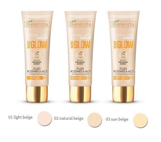 Bielenda TOTAL LOOK MAKE-UP Illuminating fluid foundation NUDE GLOW 03