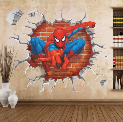 Spiderman 3D Effect Decorative Wall Stickers 45*50cm