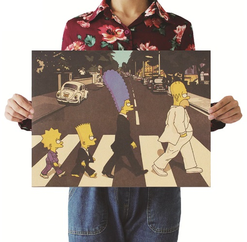 The Simpsons Rock Band Style Wall Sticker 51.5x36cm