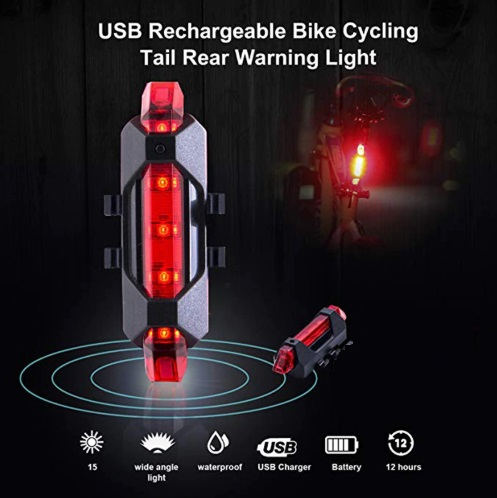 Bicycle LED Safety Tail Light