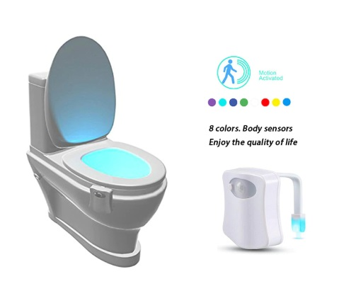 Smart Bathroom Body Motion Color Sensor Night LED Lamp (8 Colors)