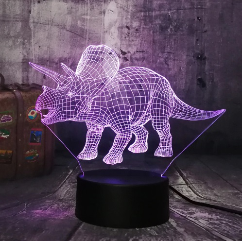 Triceratops Dinosaur 3D LED Night Light
