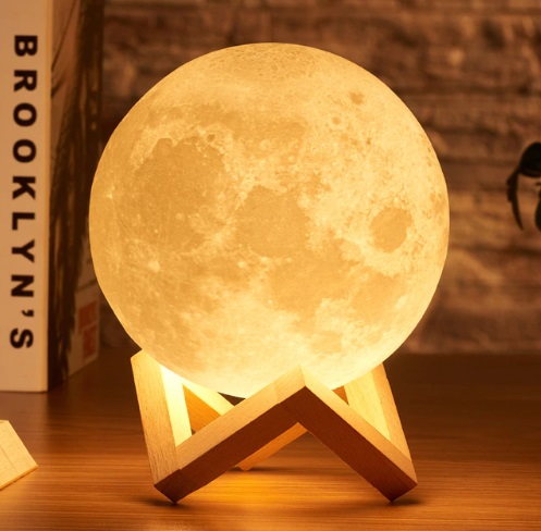 3D Moon Lamp 10cm (2 Colors Touch)