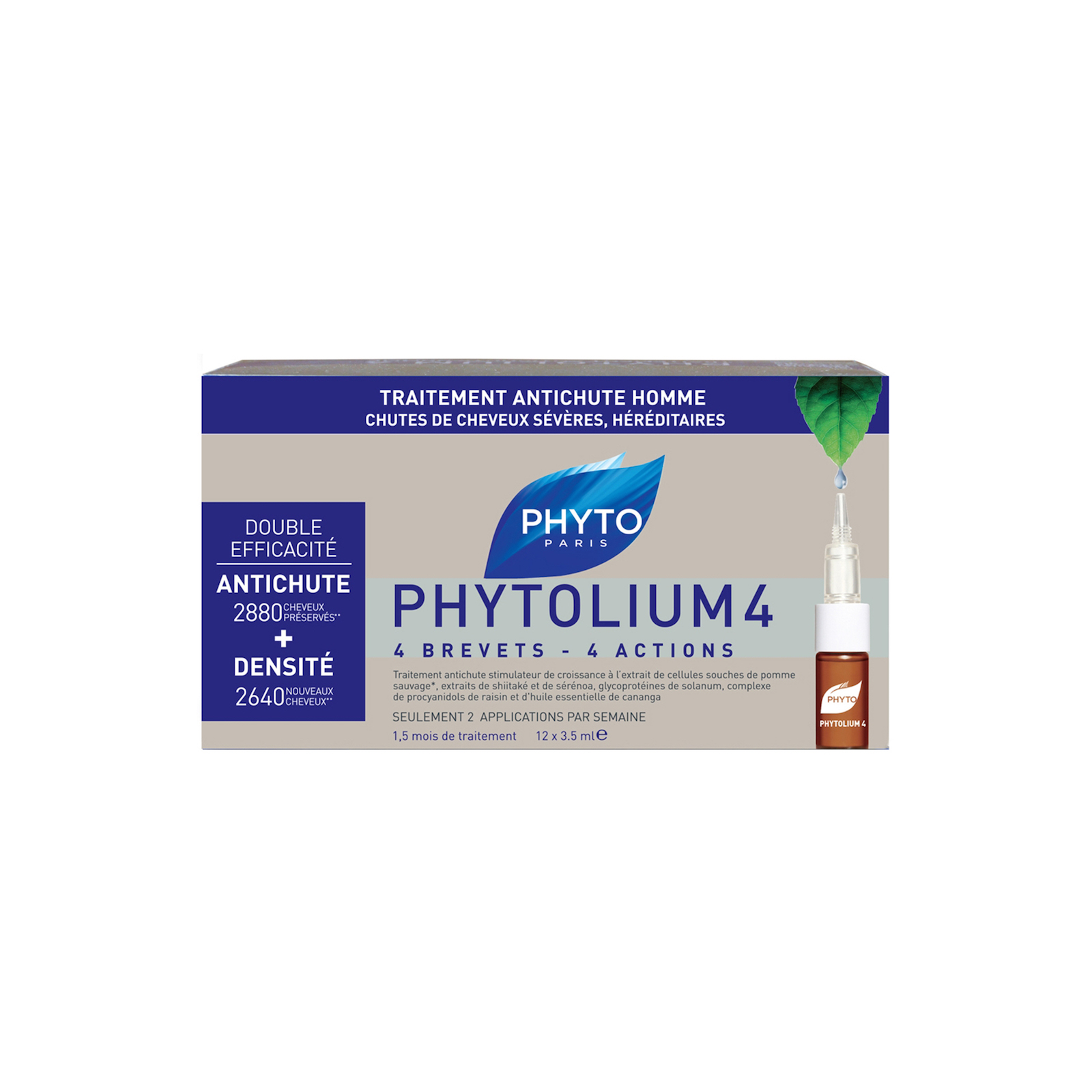 Phyto Phytolium 4 Anti-Hair Loss Concentrate With Botanical Stem Cells (88 percent Efficacy) -  12x3.5ml